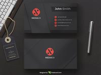 Black corporate business card template