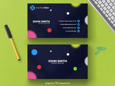 Corporate business card template print name card visit card business card free download photoshop template minimal blue card