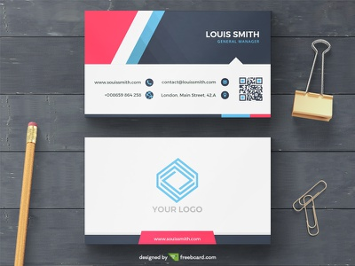 Modern corporate business card template visit card. print name card psd free download minimal business card black