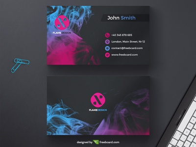 Dark business card with ink drop black ink freebcard free card design free template business card