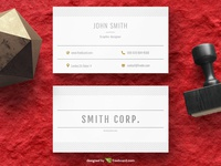 Simple minimal business card template (Free Download)