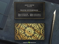 Golden Mandala Business Card (free download)