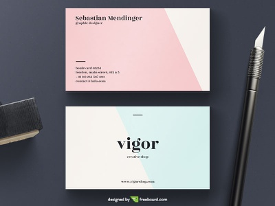Pastel Business Card Template visit name print elegant pastel template card business
