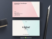 Pastel Business Card Template