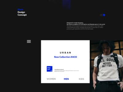 Senstore concept store website web design typography ux ui design