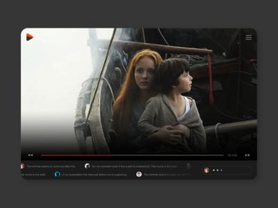 TV comment tv ui app ui  ux concept branding conceptui design