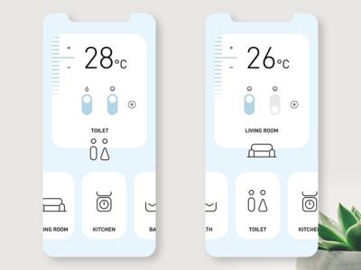 Home Control iot ui app ui  ux branding conceptui design