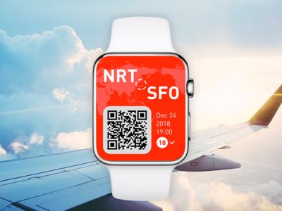 Pass branding conceptui applewatch watch ui app ui  ux boardingpass design