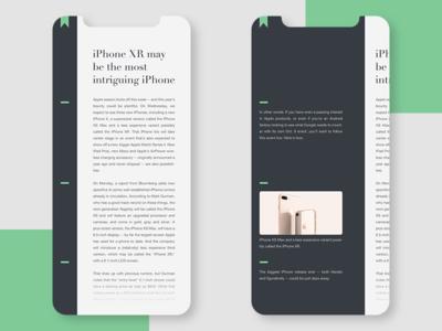 Blog Post ui  ux concept branding ui app conceptui design