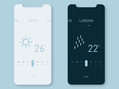 Wheather branding concept ui app ui  ux conceptui design