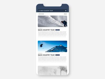 Event list concept ui  ux branding design ui app conceptui