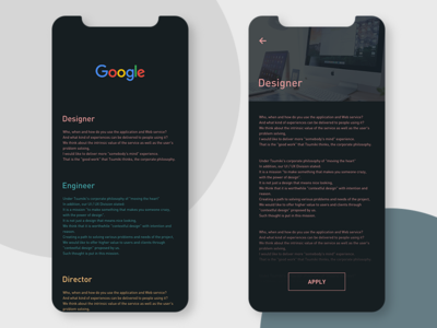 Job List ui  ux branding design ui app conceptui
