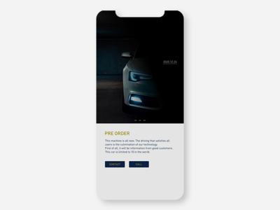 Pre order branding concept ui  ux ui app conceptui design