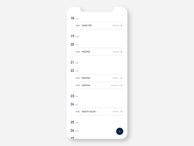 Schedule concept ui  ux conceptui app branding design ui