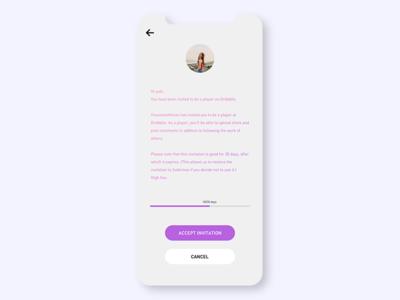 Invitation ui  ux concept ui app branding design conceptui