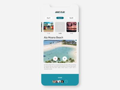 Itinerary concept ui  ux ui branding conceptui design