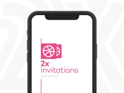 Giveaway Dribbble Invitations dribbble 2x invitation minimalist design mobile prototype ux ui