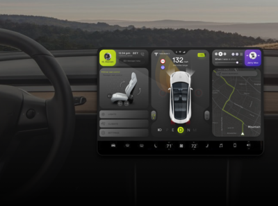 Tesla Model 3 Infotainment Screen Redesign