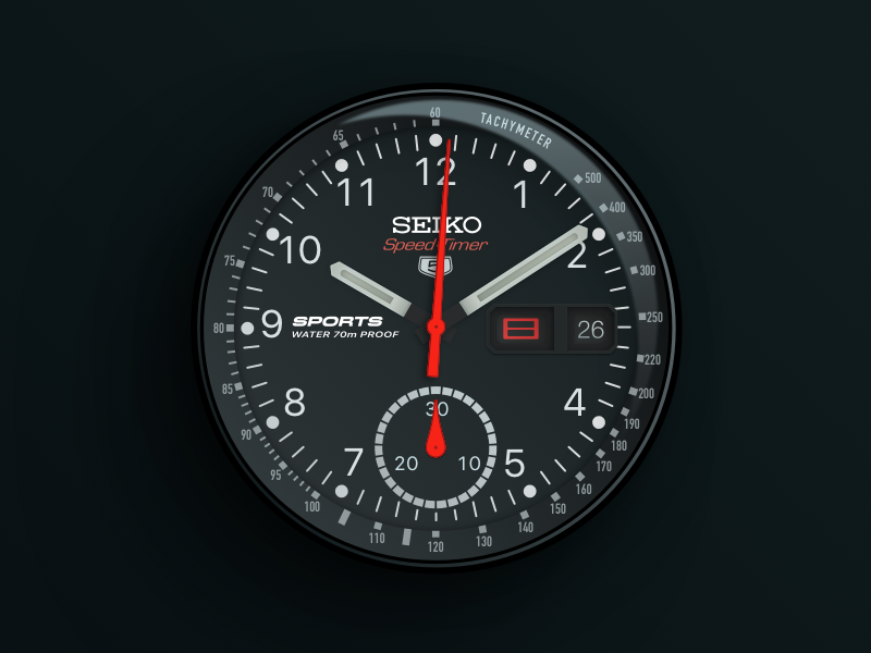 Seiko Speed Timer Watch vector sketch speed clock dial tachometer chronograph seiko watch face watch