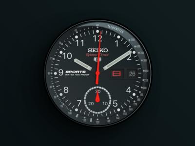 Seiko Speed Timer Watch vector sketch speed clock dial tachometer chronograph seiko watch face watch