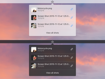 Cloud Task Bar App link screenshot upload osx menu bar cloud mac menu