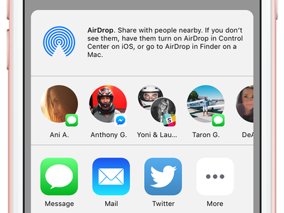 iOS Share Sheet Recents chat messages messenger avatars share ios