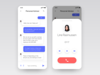 Personal advisor messaging and call