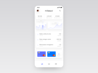 Banking app dashboard overview