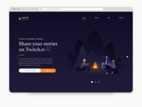 Campfire stories landing page