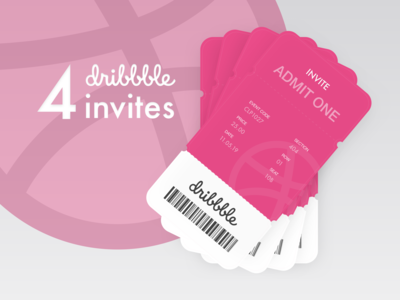 4 dribbble invites up for grabs