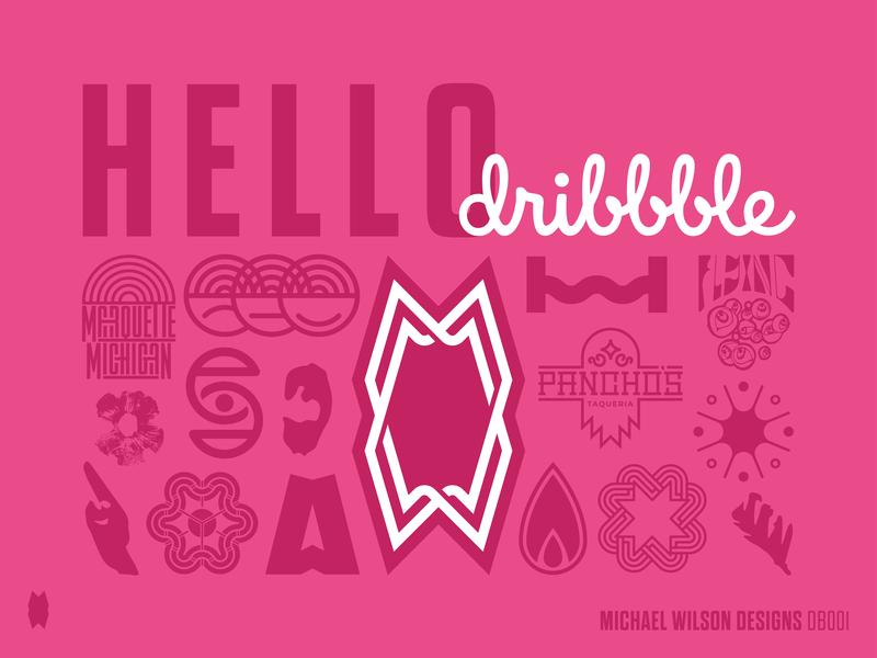 Hello Dribbble! lettering icon branding typography logo vector design