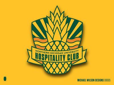 NMU Hospitality Club Patch patches branding apparel design logo typography pattern nature illustration design vector