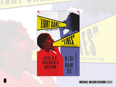 """Eight Carl: Performing """"Lines"""" at the Children's Museum music art musician music posters poster design poster promotional material promotional design promotional promo marketing illustration geometry branding typography design pattern vector"""
