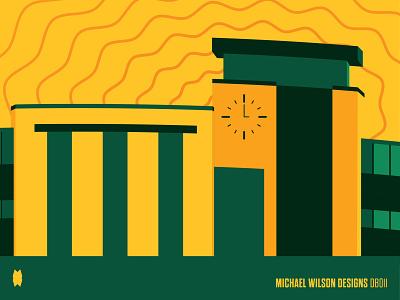 Jamrich Hall Illustrations - Detail marketing branding illustration design pattern vector