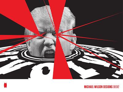 Revolve CC Poster typography geometry illustration design vector