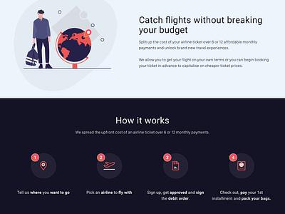 Travel Service - Landing Page visual design uidesign branding ui web design