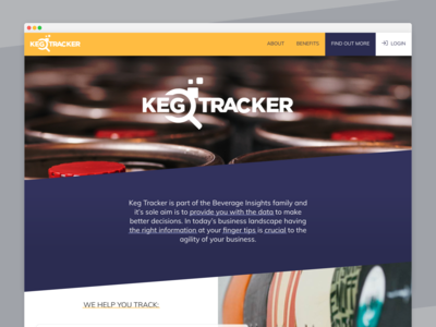 Keg Tracker Website gatsby react web ui design