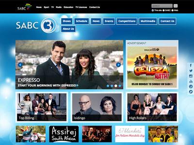 Sabc 3 Responsive Website ui web design