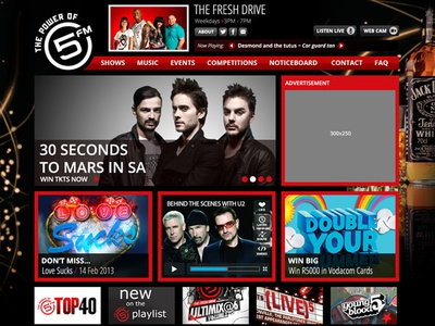 5fm Responsive Website Featured Image ui web design