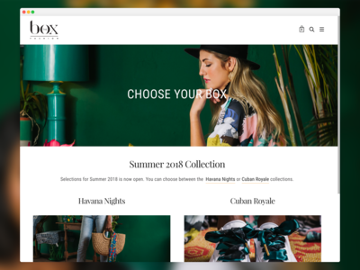 The Box Fashion Online Store ui web design