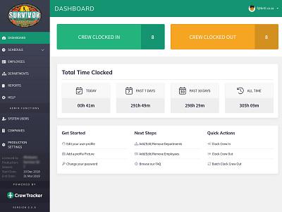 Crew Tracker Dashboard pwa dashboard design branding app web react user center design user experience ui dashboad