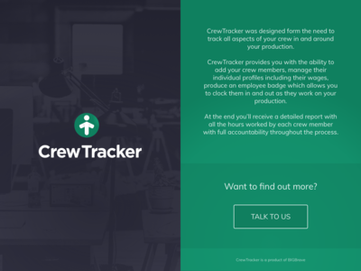 CrewTracker - Landing Page branding design web