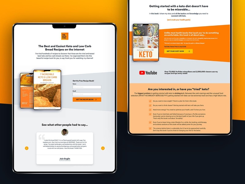 The Keto King - Landing Pages visual design uidesign branding design web ui