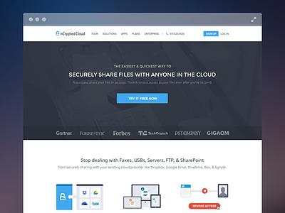Homepage (WIP) landing page home page cloud security enterprise website ui ux flat