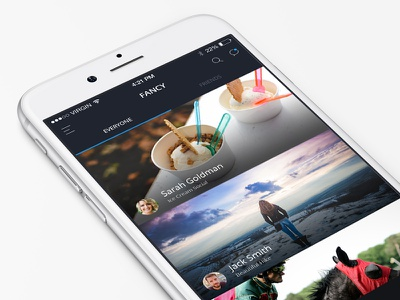 Activity Feed ux ui iphone mobile ios sign up feed iphone 6 photo flat