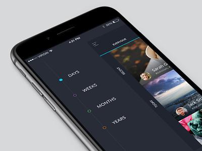 iOS Side Menu  side menu side bar mobile ios app ui ux minimal flat iphone 6