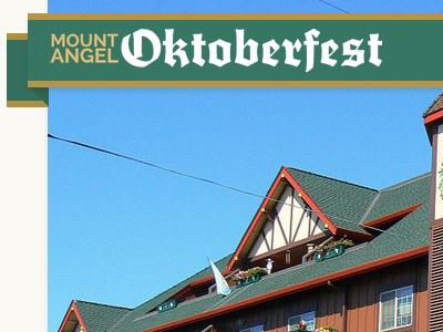 Oktoberfest website header web design german beer banner vintage