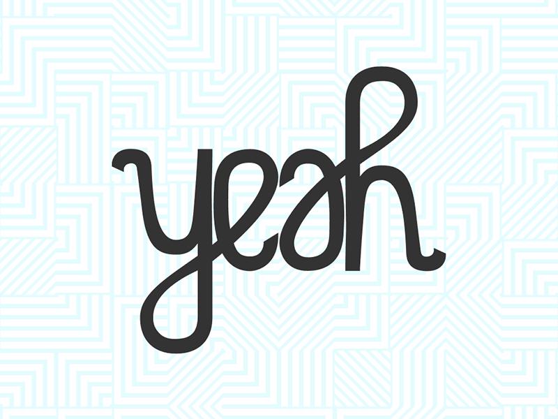 yeah logo design yeah hand drawn lettering ambigram
