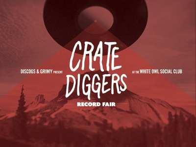 Crate Diggers Record Fair Poster photo manipulation lettering discogs poster vinyl