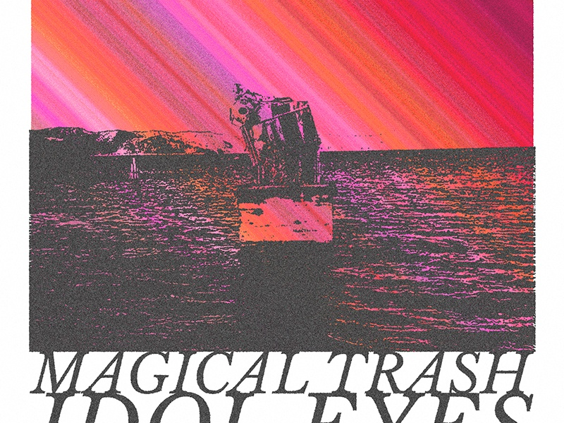 Magical Trash Show Poster typography gradient print gig poster poster
